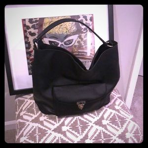 Banana Republic Black Leather Hobo Bag
